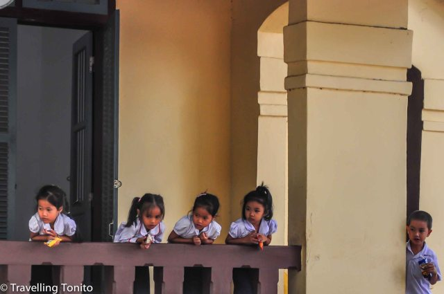 Children having break from lessons