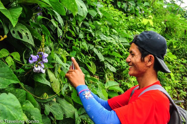 Yeng taking photos of butterflies for his wife
