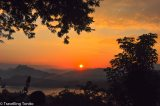 A Stunning Sunset from Land and from Water in Luang Prabang