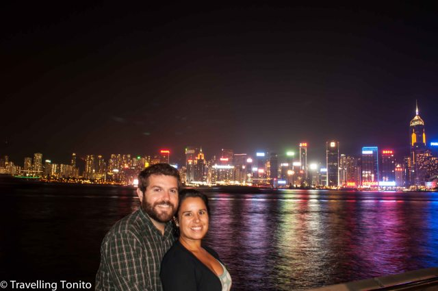 Raquel and me in Victoria Harbour