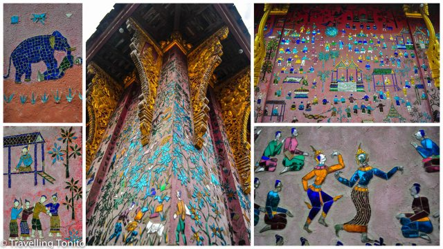 Brilliant details from Wat Xien Thong