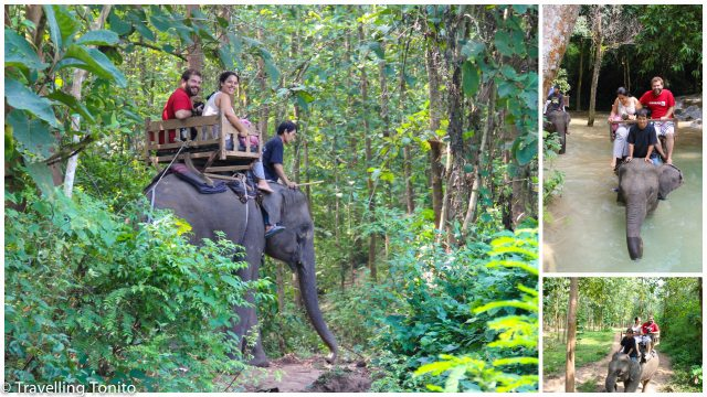 Raquel and I, riding our elephant (Photo Credit: Nikcy)
