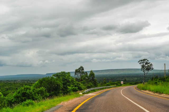 Driving into Mozambique