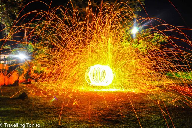 Hand spun fireworks!